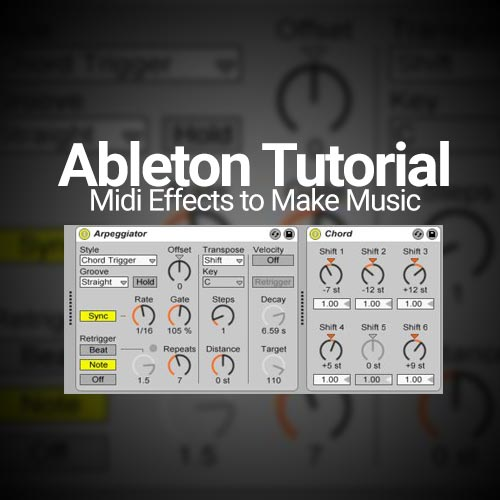 Cheat Sheet for Ableton Live Chord MIDI Effect (Free Download)
