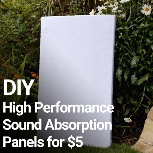Theatre Acoustic Walls Diy Foam: DIY High Performance Sound Absorption Panels For $5