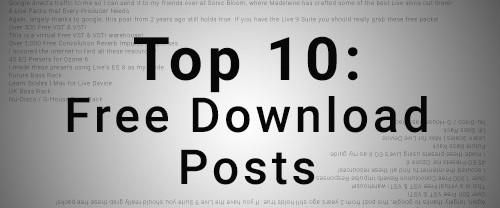 Top 10 Free Download Posts of 2015